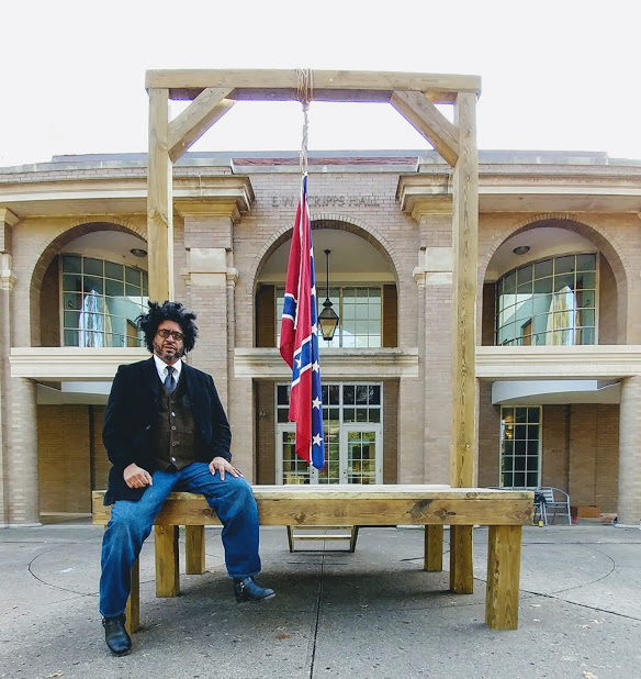 Artist John Sims confronts the legacy of the American Civil War and white supremacy